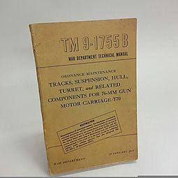 War Department Technical Label TM 9-1755B