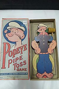Popeye Pipe Toss Game