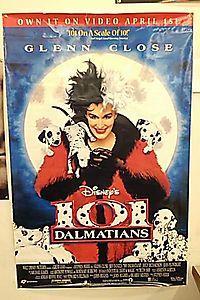 "101 Dalmations 27""X40"" D/S Original Movie Poster One Sheet Glen Close DISNEY"