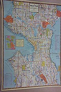 Seattle Map 1946 (Replica)